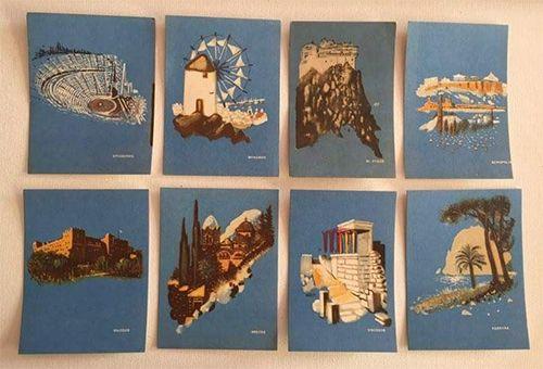 8 vintage postcards